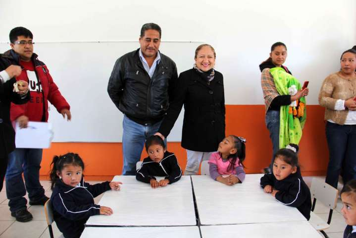 Nuevo Jardín de niños para Texoloc, alcaldesa entrega las llaves