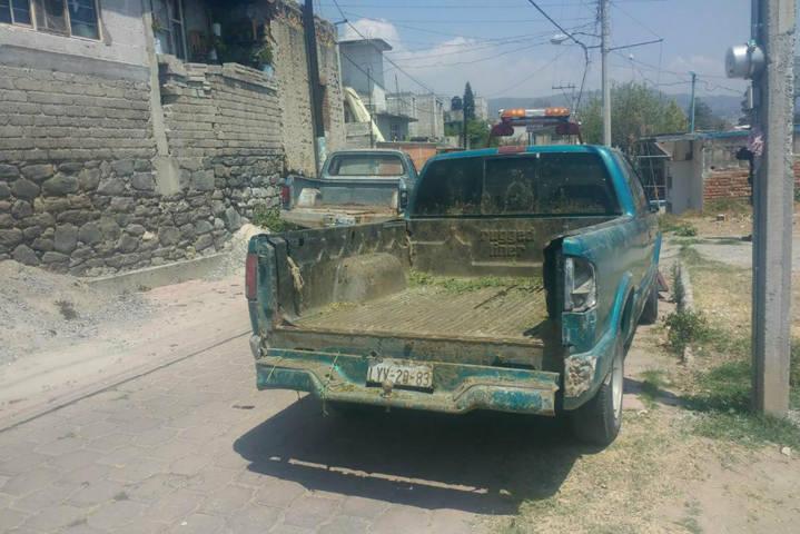 Aseguran camioneta con reporte de robo en Panotla