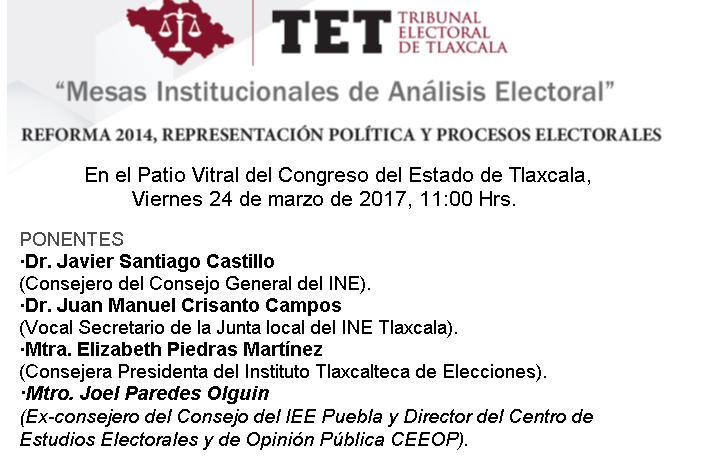 Organiza TET Mesa Interinstitucional de Análisis Electoral