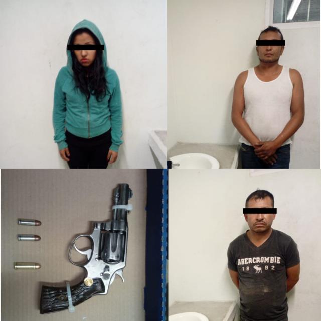 Asegura Policía de Tzompantepec Presuntos Narcomenudistas