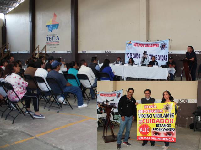 Se llevo a cabo la tercera reunión de vecinos vigilantes en Tetla de la Solidaridad