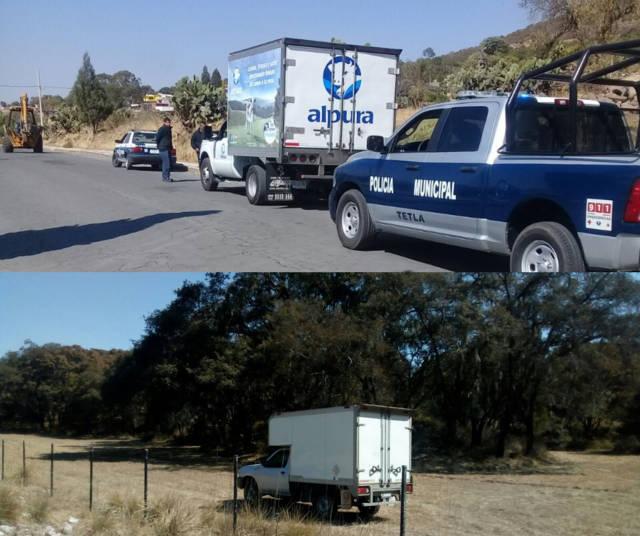 Policía de Tetla recupera 2 unidades vehiculares
