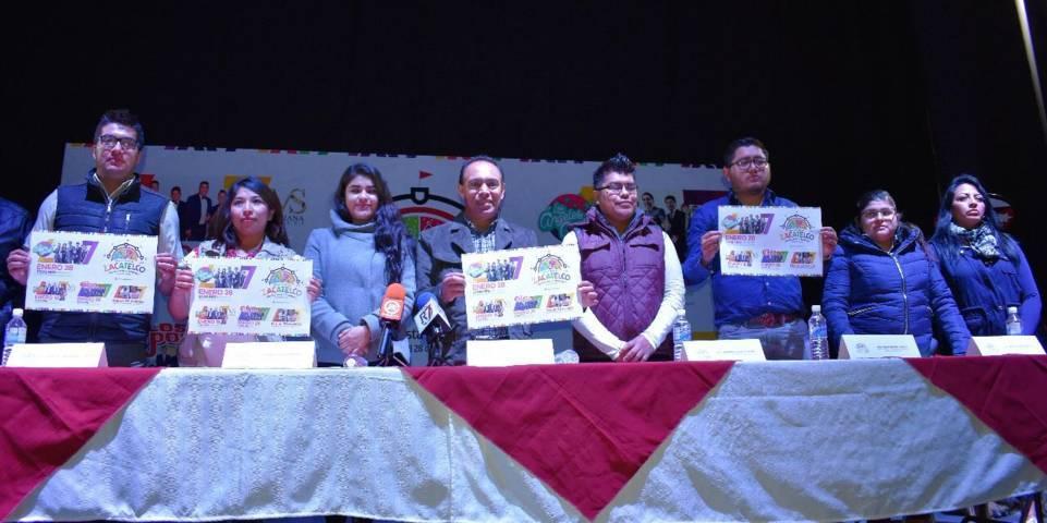 Orea Albarrán da a conocer programa de feria Zacatelco 2018