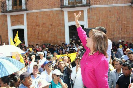 Miles marchan con Lorena Cuéllar  en repudio de fraude electoral
