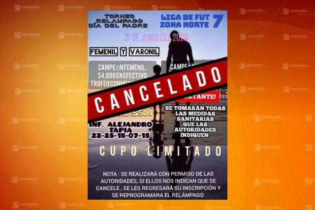 Cancelan torneo relámpago del día del padre por contingencia sanitaria en San Pablo Del Monte