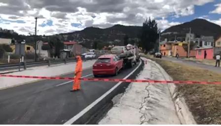 Fuga de gas causó pánico en carretera Tlaxcala-Apizaco