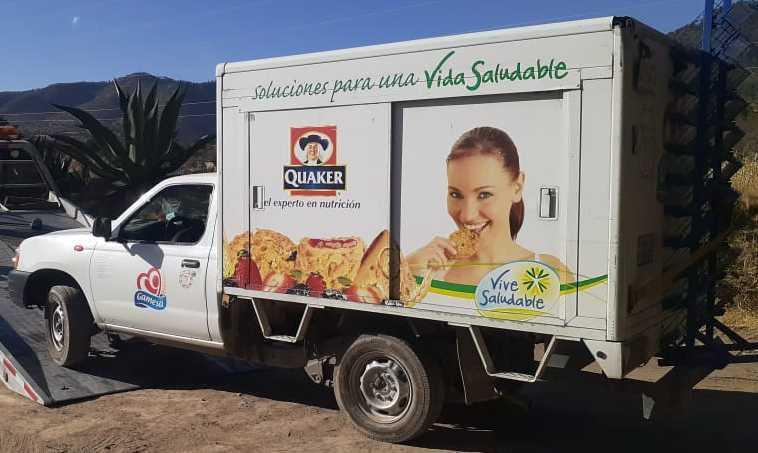 La SSC recupera una camioneta de la empresa gamesa en Altzayanca