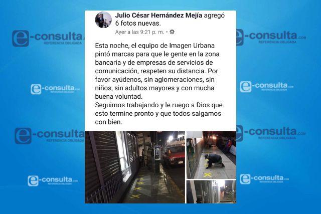 Alcalde de Apizaco toma previsiones para evitar aglomeraciones