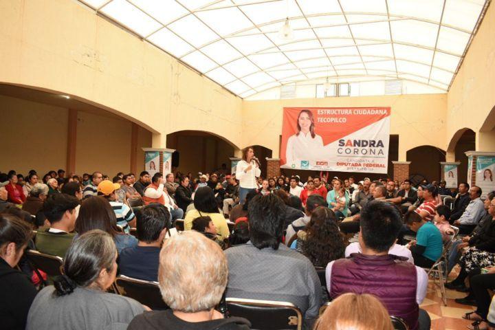 En acto público respalda Ricardo Portilla candidatura de Sandra Corona