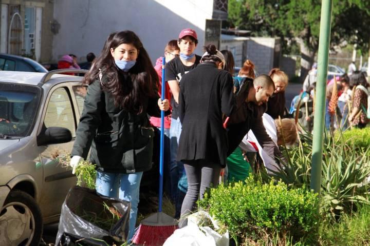 Realizan Jornada de limpieza en Conjunto habitacional Geo Villas
