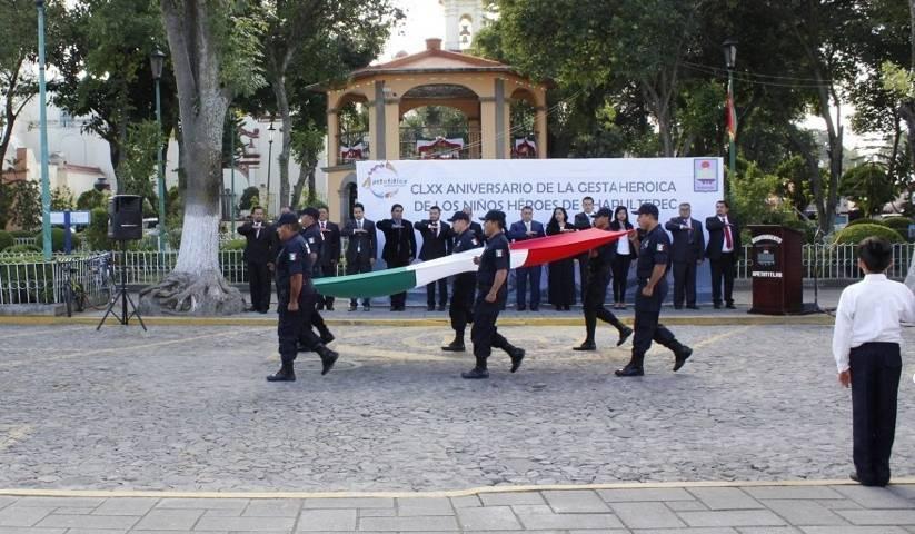 Conmemoran en Apetatitlán gesta heroica de cadetes militares
