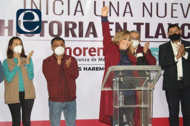 Se consumó, soy la nueva gobernadora de Tlaxcala: Lorena Cuéllar
