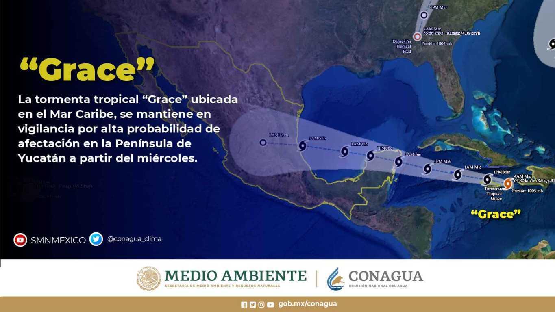 Se pronostican lluvias puntuales muy fuertes en zonas del norte, occidente, centro y sureste de México