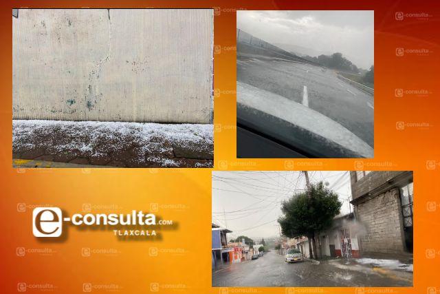 Intensa granizada azota la capital del estado la tarde de hoy