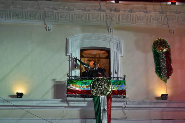 Sánchez Jasso dio el tradicional grito de Independencia