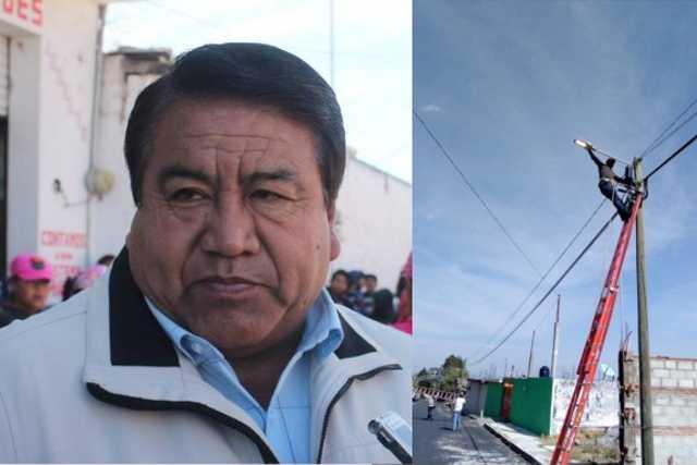 Picapiedra robó grúas, Chiautempan no para la rehabilitación de alumbrado