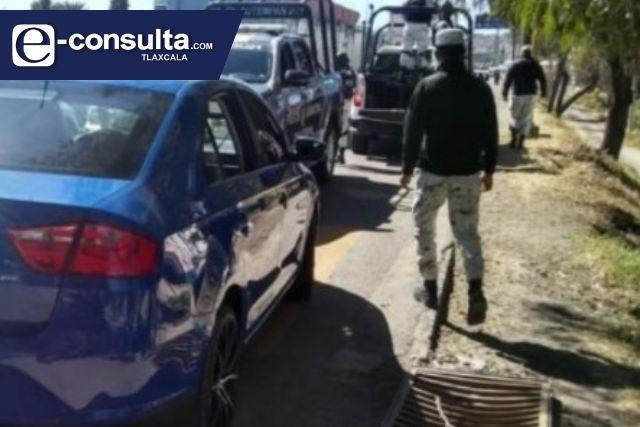 Patrulla de la Guardia Nacional involucrada en un choque en Chiautempan