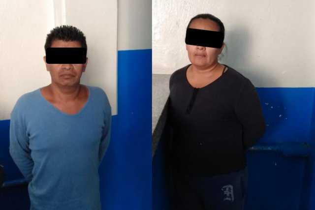 Policias de Chiautempan aseguran a narcomenudistas