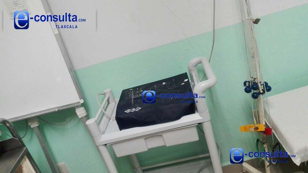 Chafas las reparaciones hechas al Hospital General de Tlaxcala