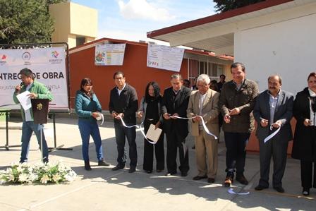 Sánchez Jasso mejora la infraestructura educativa en Huamantla