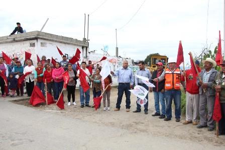 Inician obra de pavimentación en Nuevo Centro de Población Morelos