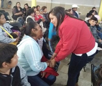 Intensifica campaña Heriberta Díaz en el distrito local V