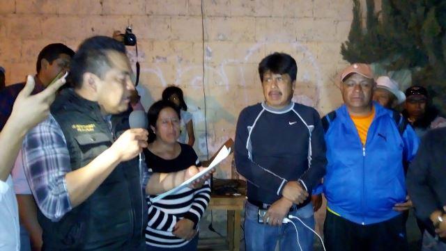 Toma protesta Domínguez al nuevo presidente de comunidad de Ixcotla