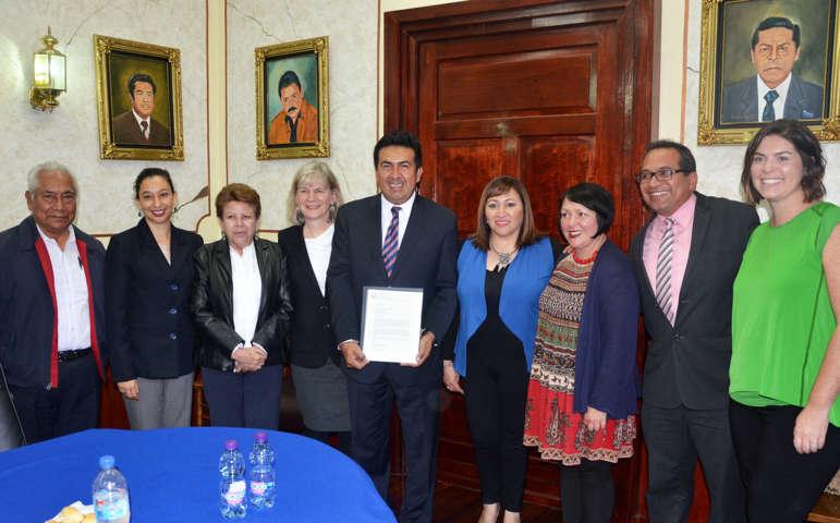 Estrechan lazos de amistad Ayuntamiento de Tlaxcala y el Estado de Indiana