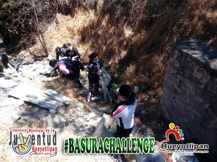 Ayuntamiento de Hueyotlipan se suma al Reto Basura Challenge