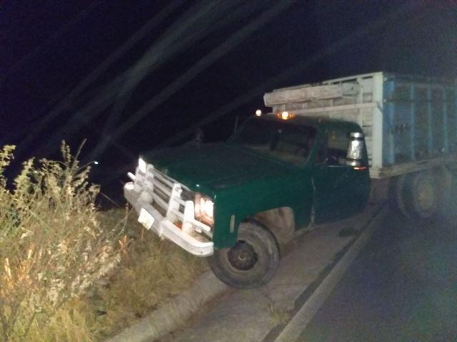 Aseguran camioneta que transportaba huachicol en Tlaxco