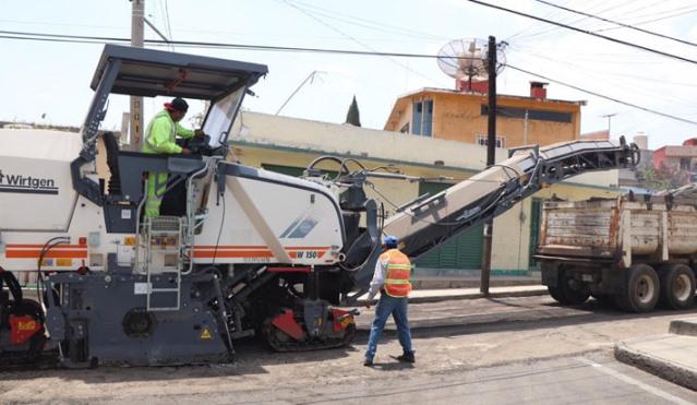 Arrancan obras de reencarpetamiento en calle Zaragoza de Huamantla