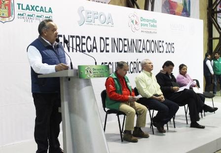 Entregan indemnizaciones a productores de Huamantla