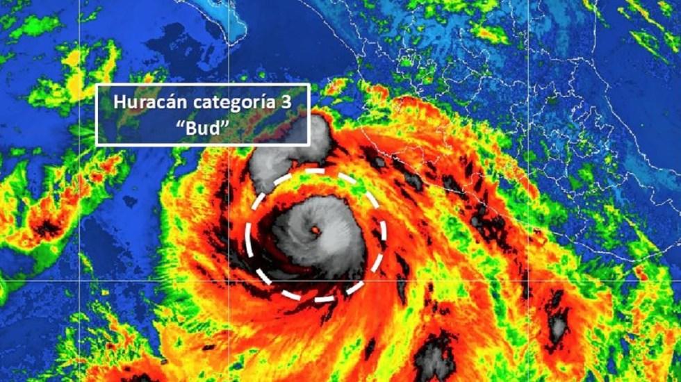 El huracán Bud generará tormentas intensas y torrenciales en el sur de Jalisco y Colima