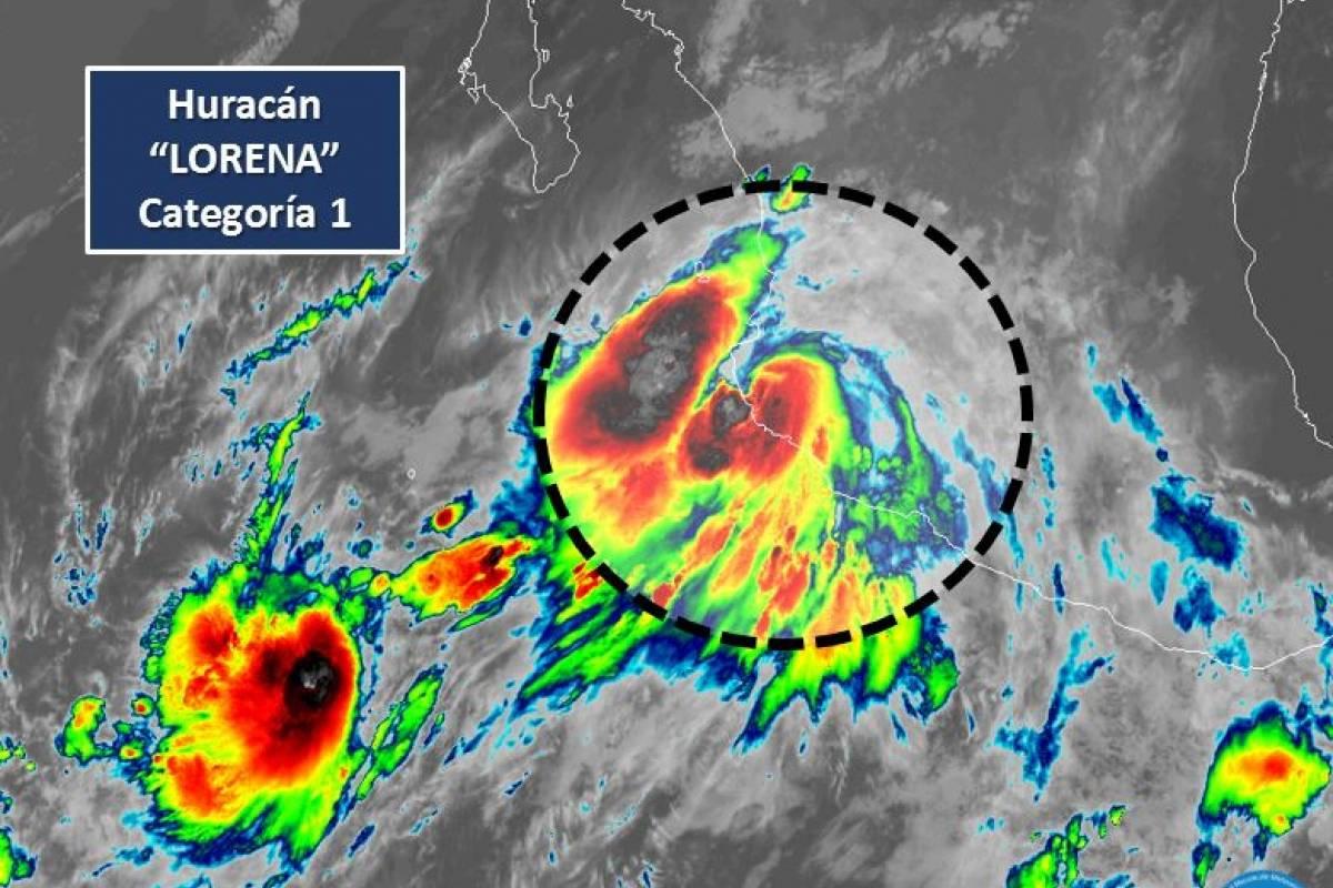 Lorena evolucionó a huracán categoría 1