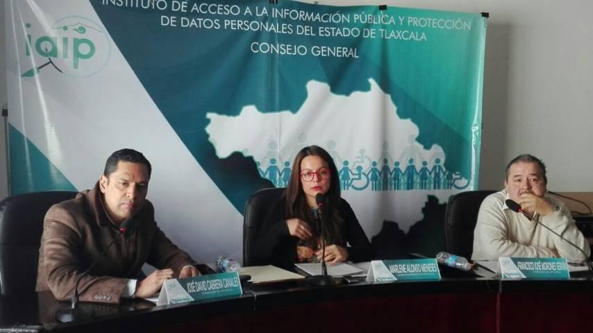 Se justifica presidenta del IAIP- Tlaxcala por ausencia de personal