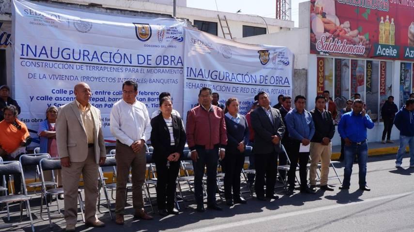 Inauguran rehabilitación de Calle Puebla en San Pablo del Monte