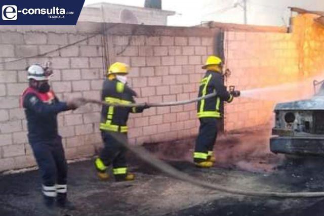Atiende CEPC incendio en domicilio particular de Calpulalpan