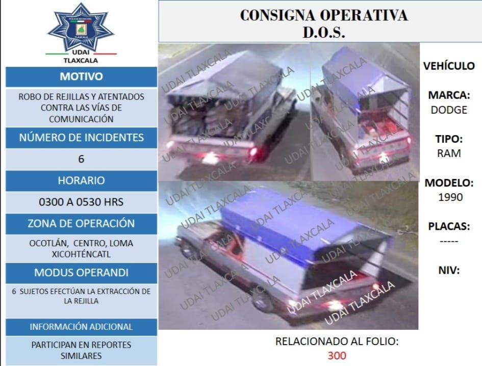 Identifican con cámaras del C2 camioneta de supuesto ladrón de alcantarillas en la capital
