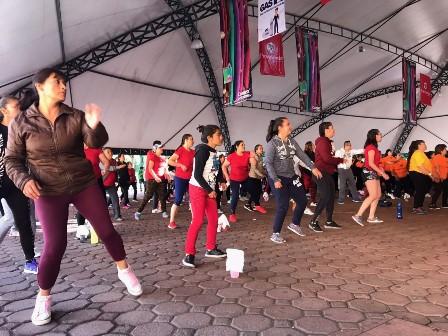 Se activan 500 personas en Maratón fitness de la Feria Tlaxcala 2018