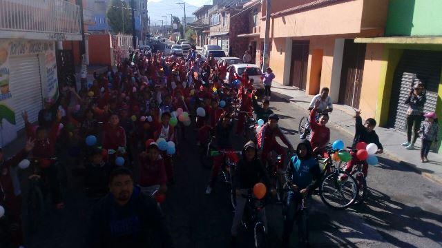 Celebró IDET Día Mundial de la Bicicleta en Tlaxcala