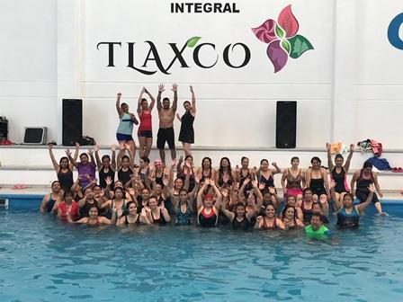 Realiza IDET el primer maratón fitness acuático en Tlaxco