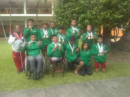 Suma 19 medallas delegación tlaxcalteca en Paralimpiada