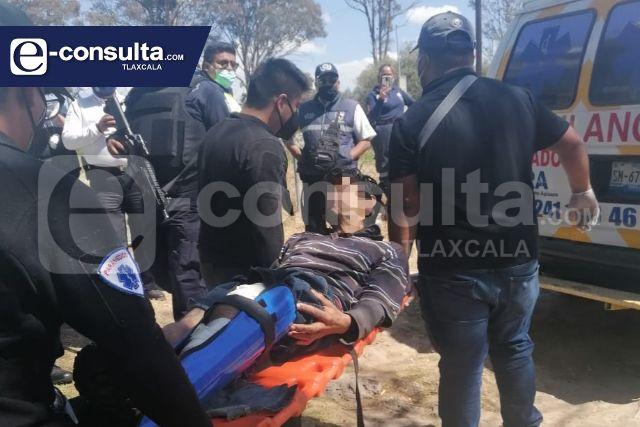 Localizan a sujeto con disparos de arma de fuego en límites de Tetla y Apizaco