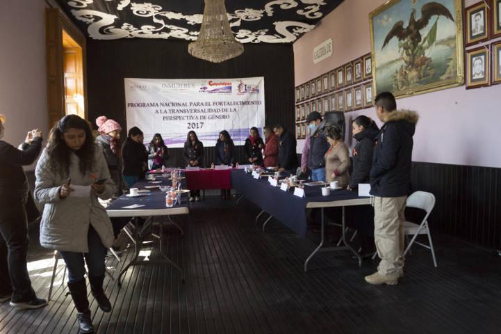 En Calpulalpan se realiza la 5ta sesión del sistema de igualdad de género
