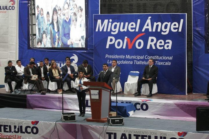 Resalta Polvo Rea resultados tangibles en primer año de Gobierno en Tlaltelulco