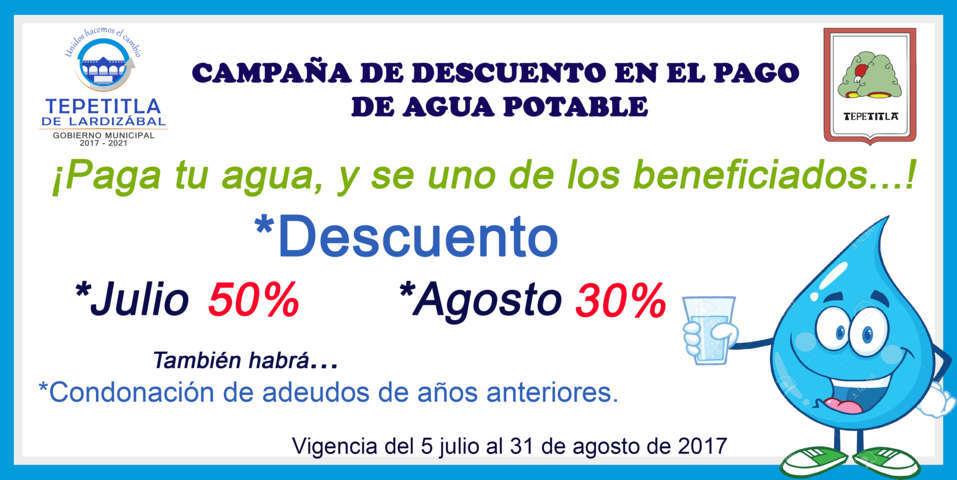 Gobierno de Lardizábal emprenderá campaña de descuento en el pago de agua potable