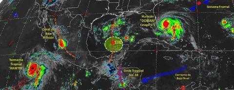 Pronóstico del tiempo en México para lunes 2 de septiembre del 2019