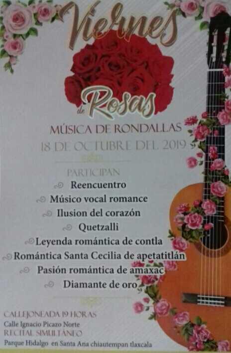 """Disfrutará Chiautempan """"Viernes de Rosas"""" con música de Rondalla"""