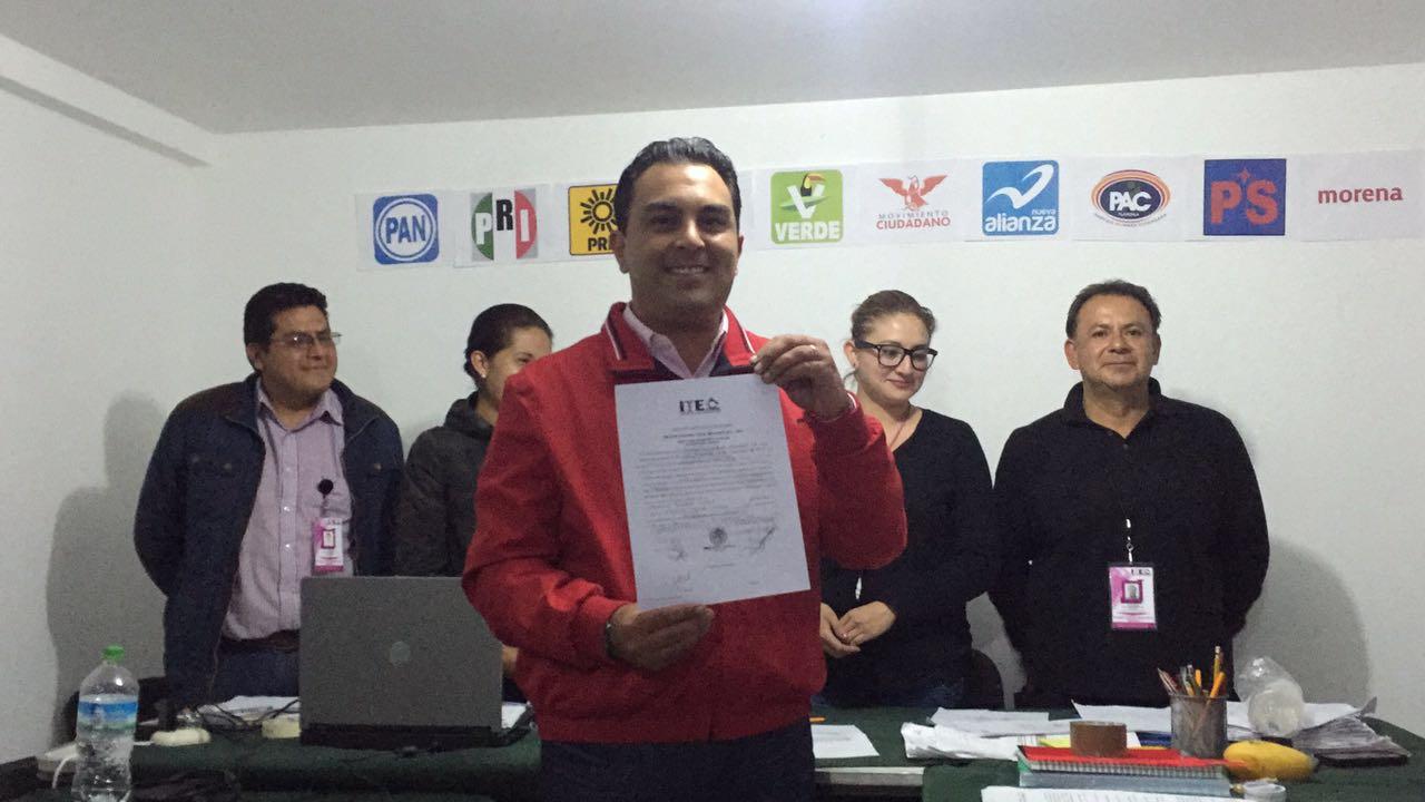 Confirma ITE triunfo de Mariano González Aguirre