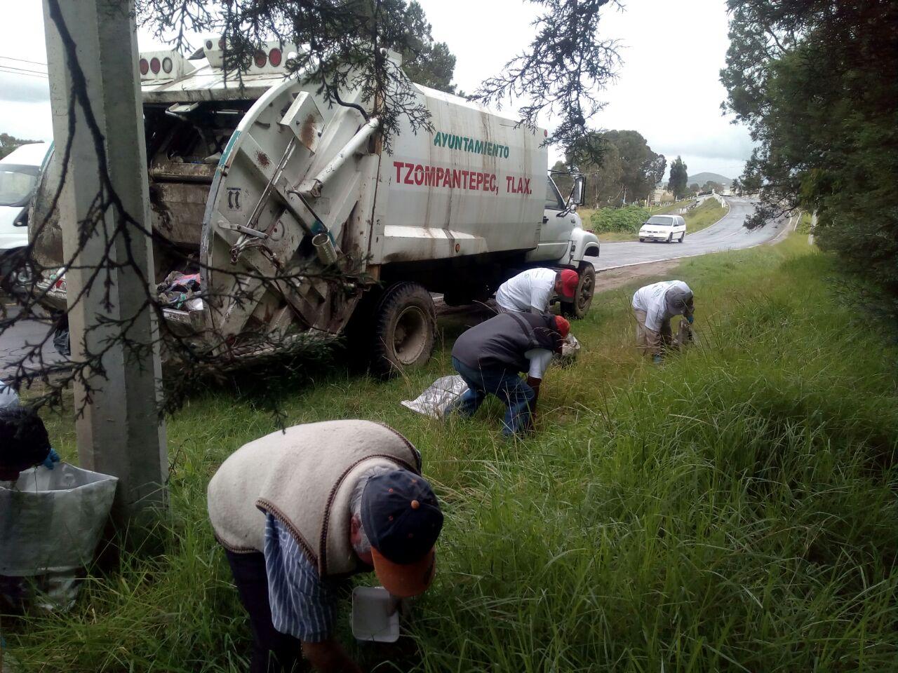 Motivante campaña de limpieza en Tzompantepec